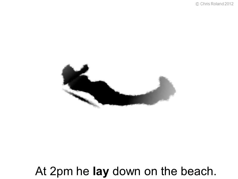 At 2pm he lay down on the beach. © Chris Roland 2012