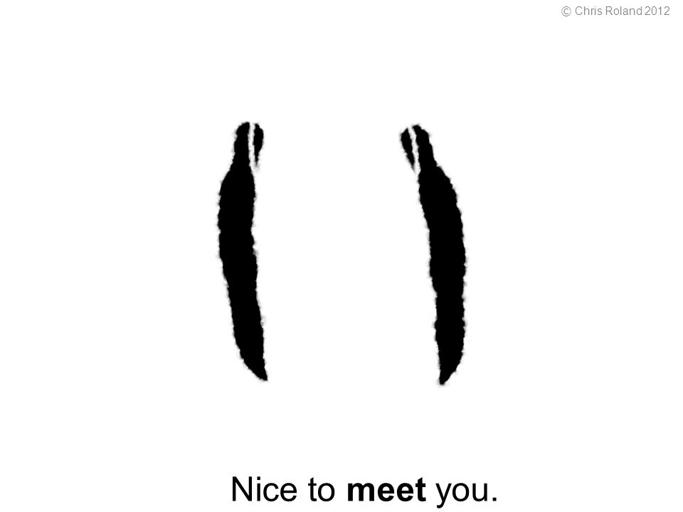 Nice to meet you. © Chris Roland 2012