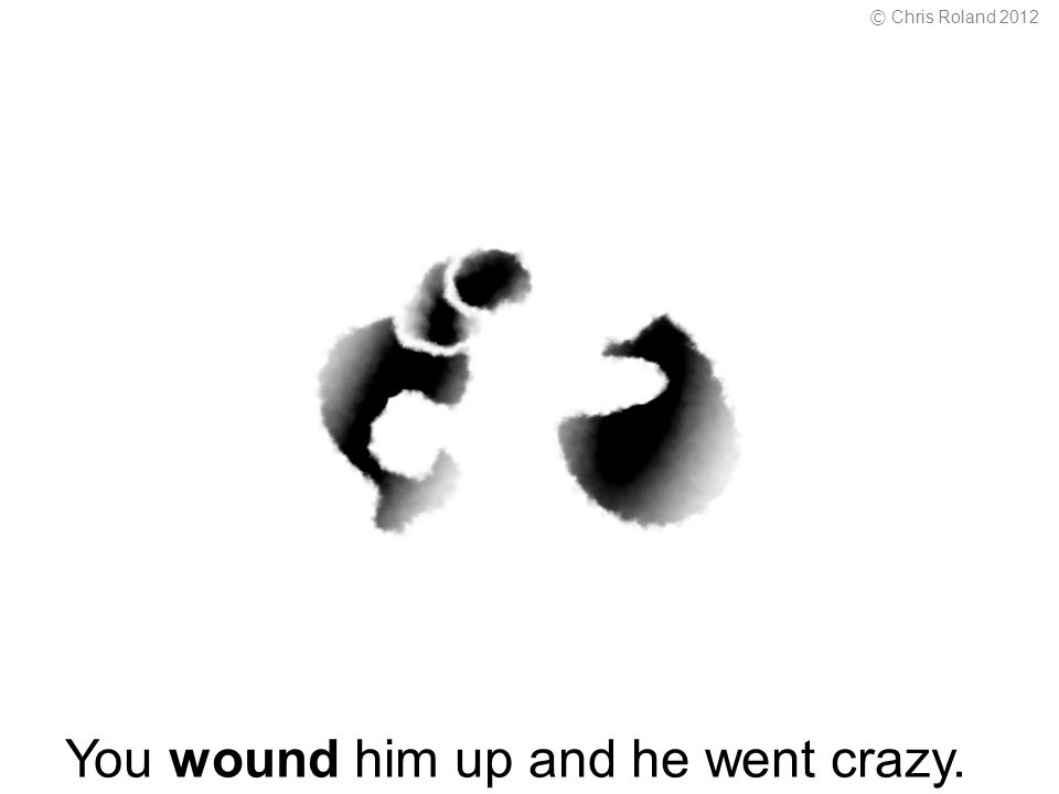 You wound him up and he went crazy. © Chris Roland 2012