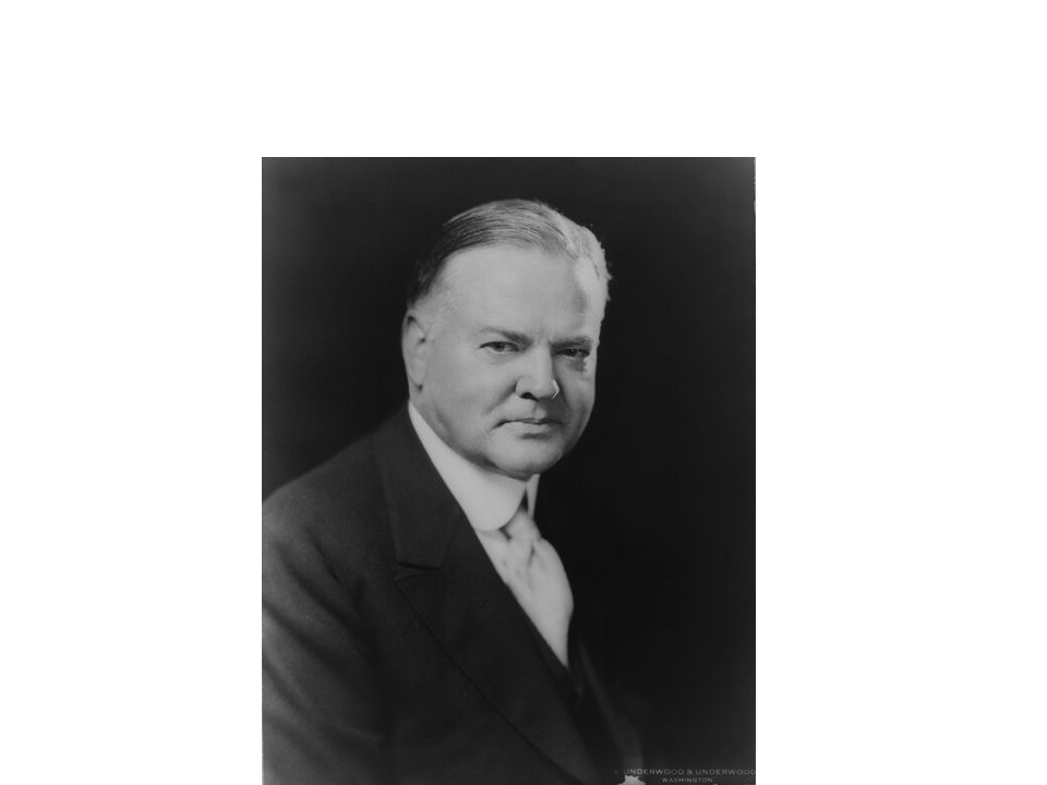 The fundamental business of the country [is] on a sound and prosperous basis. -- Herbert Hoover, October 1929