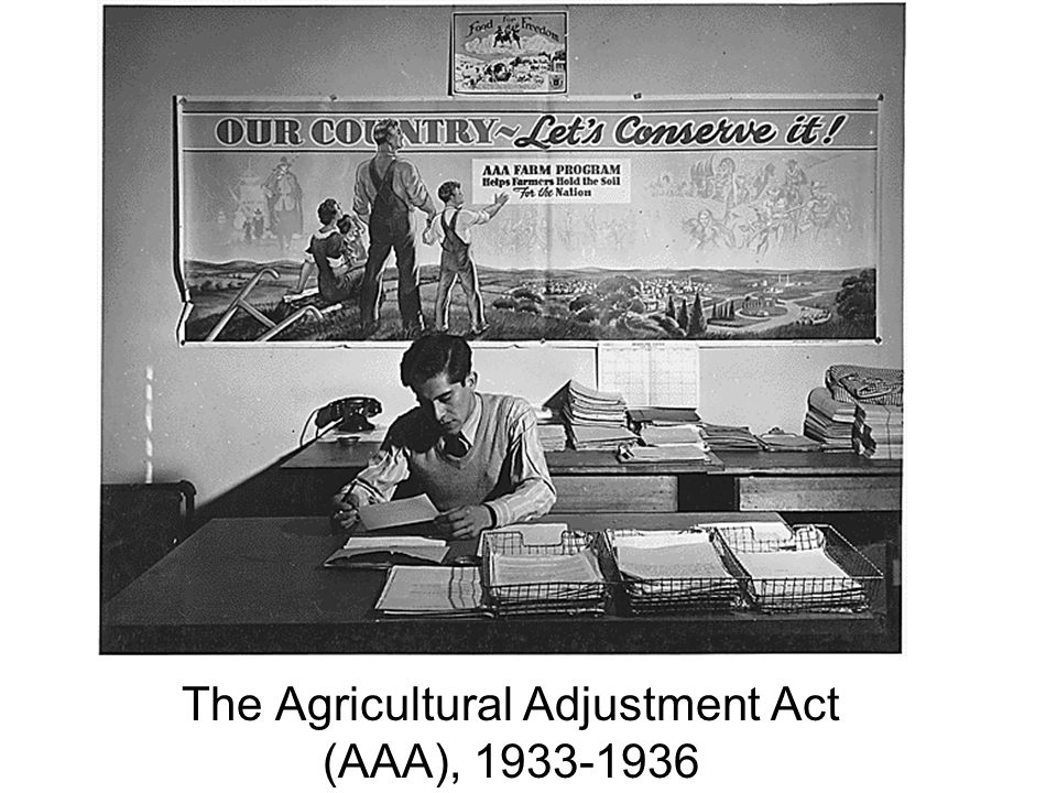 The Agricultural Adjustment Act (AAA), 1933-1936