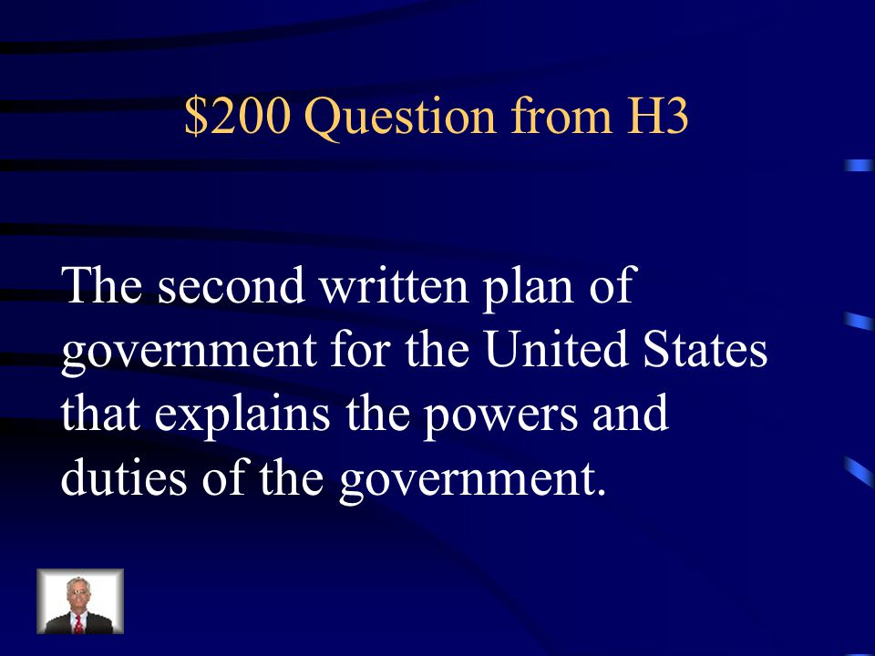 $100 Answer from H3 What is the Declaration of Independence