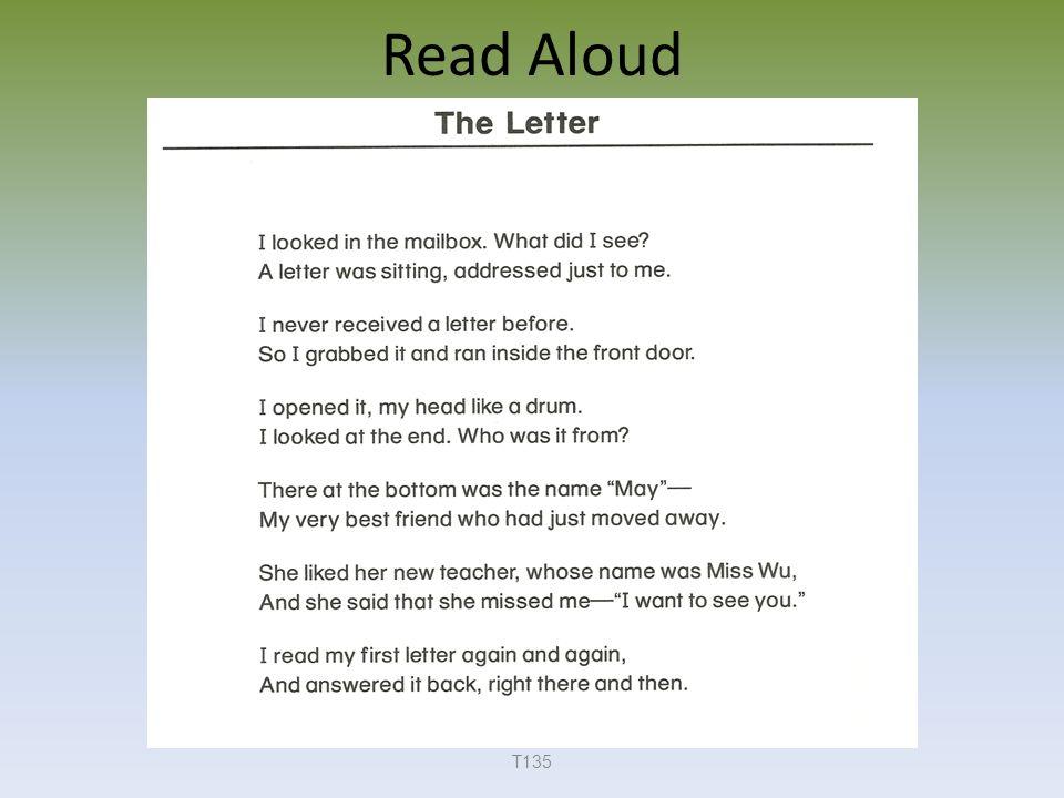 Read Aloud T135
