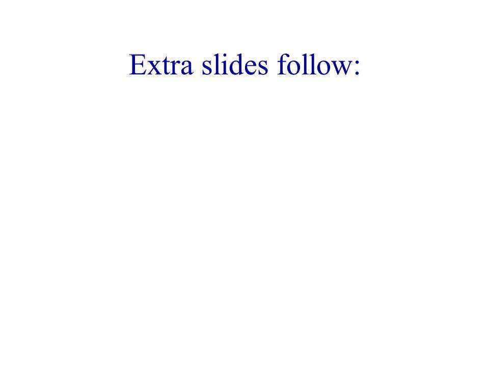 Extra slides follow:
