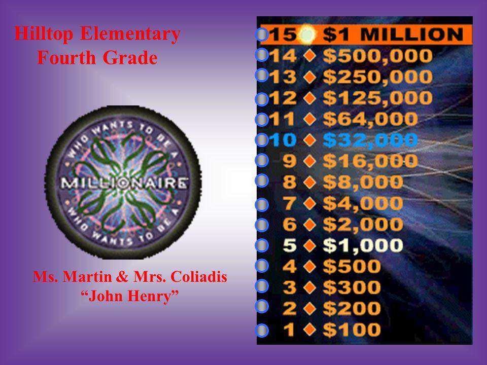 Hilltop Elementary Fourth Grade Ms. Martin & Mrs. Coliadis John Henry