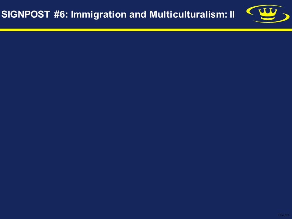 SIGNPOST #6: Immigration and Multiculturalism: II TC-083
