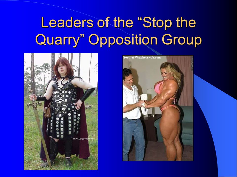 "Leaders of the ""Stop the Quarry"" Opposition Group"