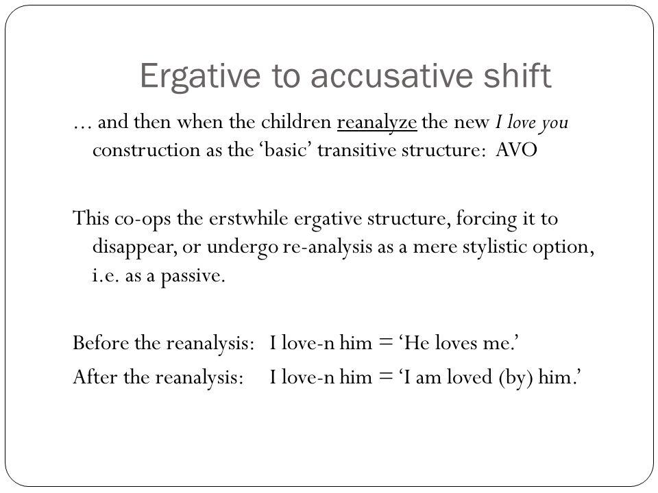 Ergative to accusative shift...