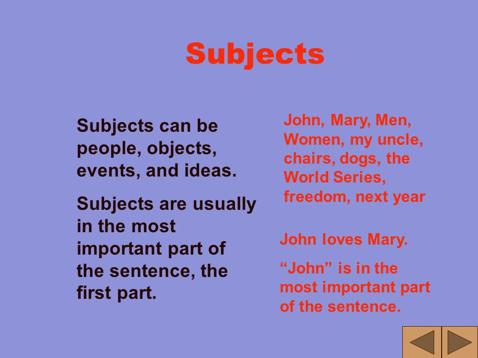 Complete Sentences A complete sentence has a subject and a verb, and usually a phrase. Subject = S Verb = V Phrase = P