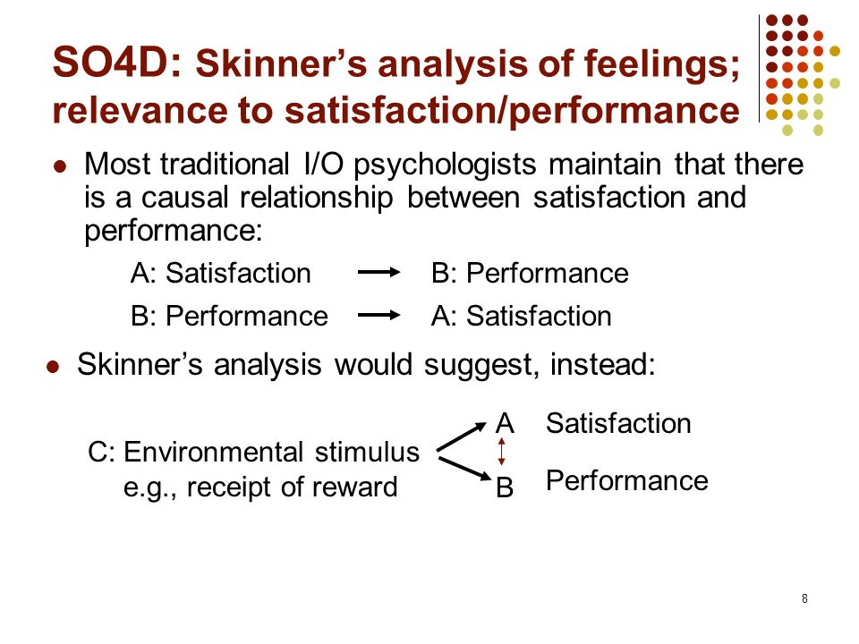 9 SOs 5&6: What determines the relationship according to the authors.