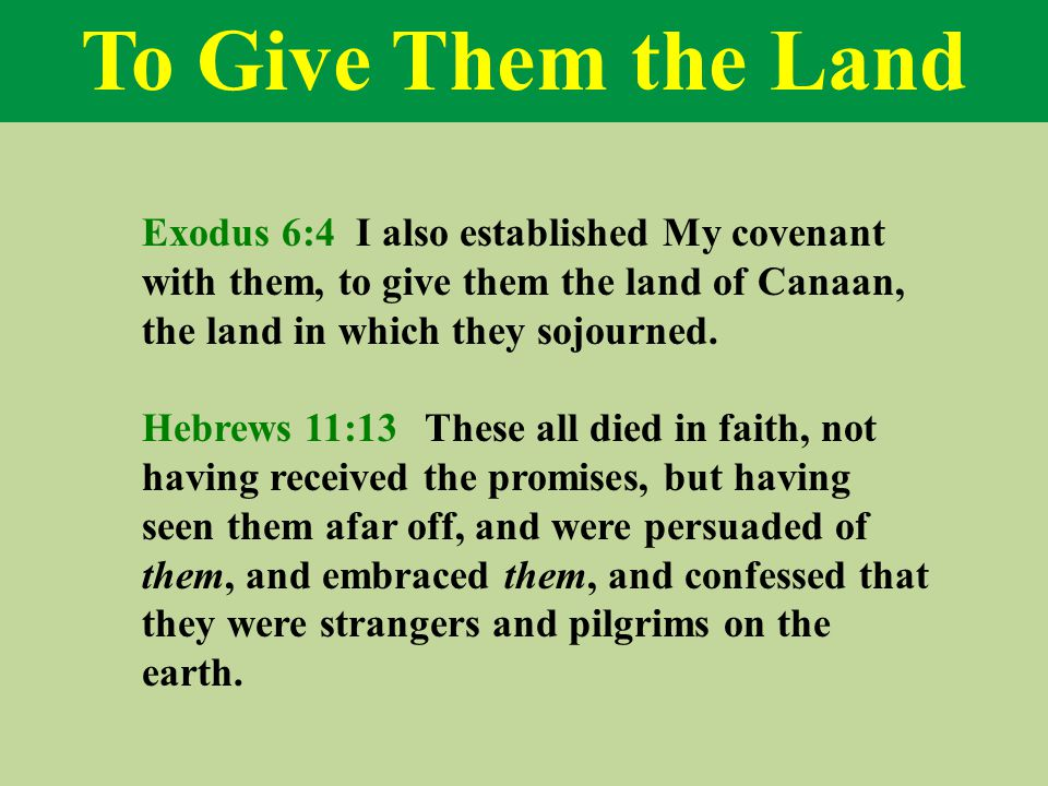 Passover of the Future Exodus 6:5 I have remembered My covenant.