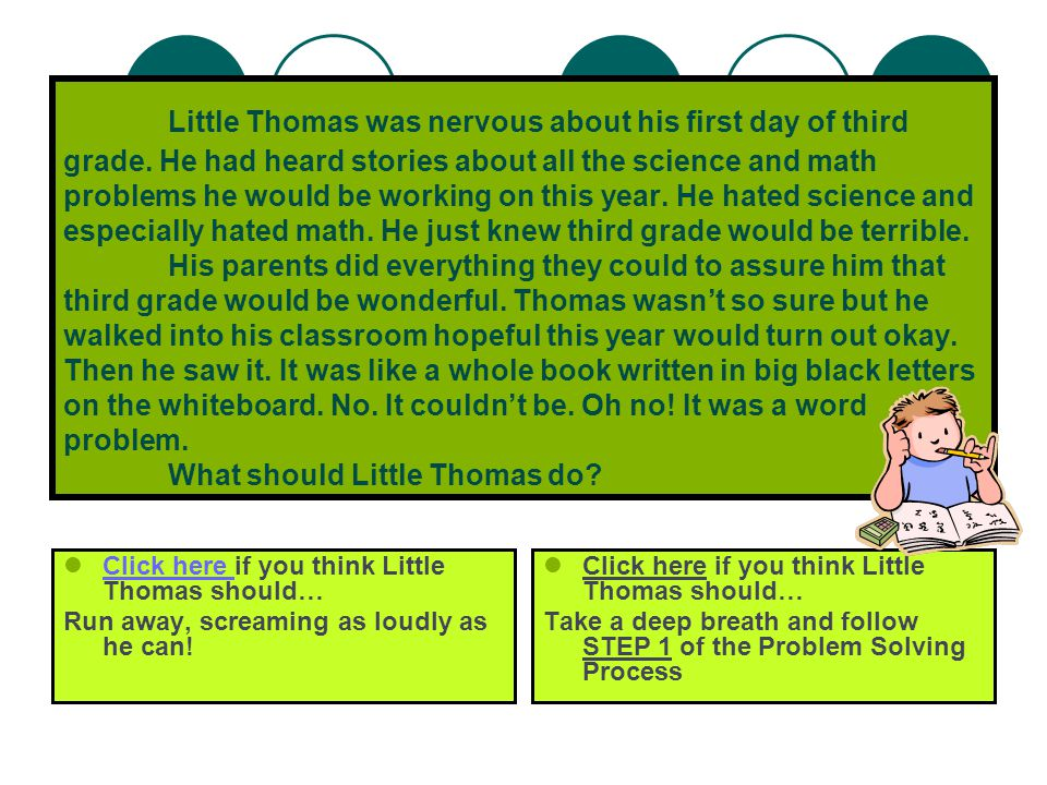 Table of Contents 1. Chapter One… Little Thomas learns to Identify the Problem 2.