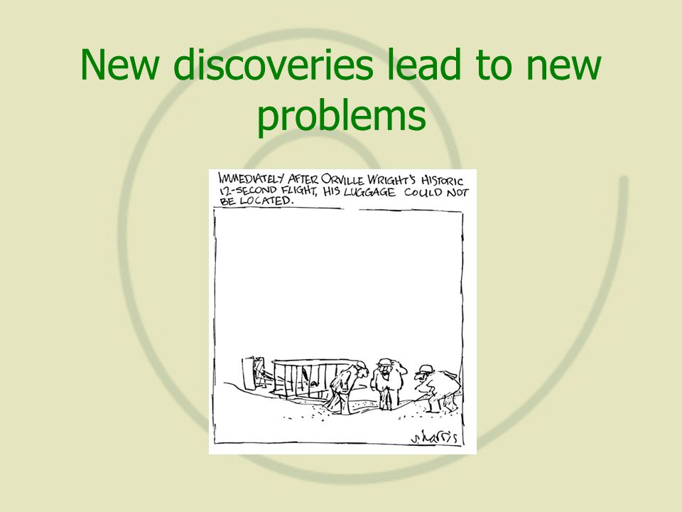 New discoveries lead to new problems