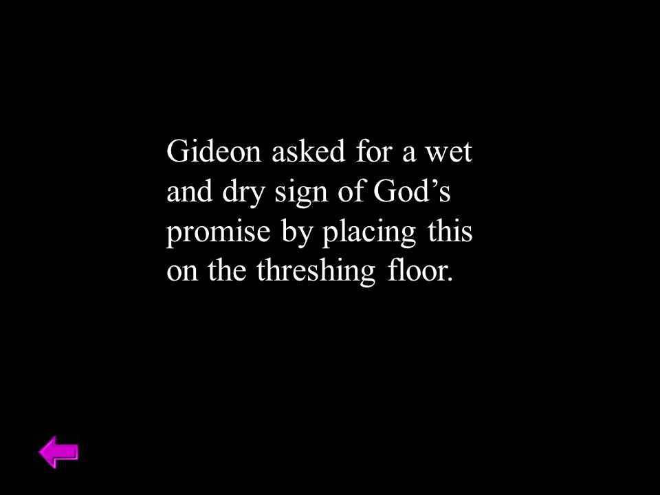 Gideon asked for a wet and dry sign of God's promise by placing this on the threshing floor.