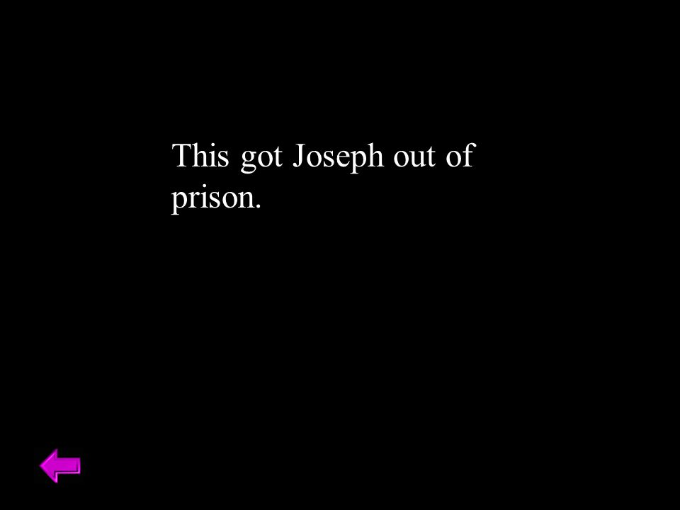 This got Joseph out of prison.