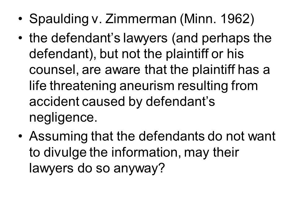 Spaulding v. Zimmerman (Minn.