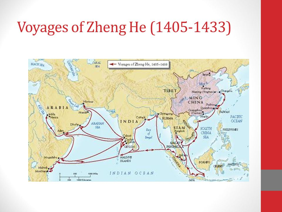 Explorer #1 Zheng He (1371-1433) The leader of overseas trade during the Ming Dynasty Traded silk, paper, and porcelain with Europe, India, Arabia, Af