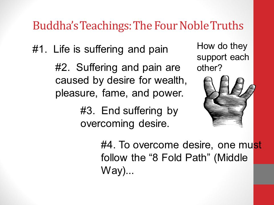 Buddha's Teachings: The Four Noble Truths How do they support each other.