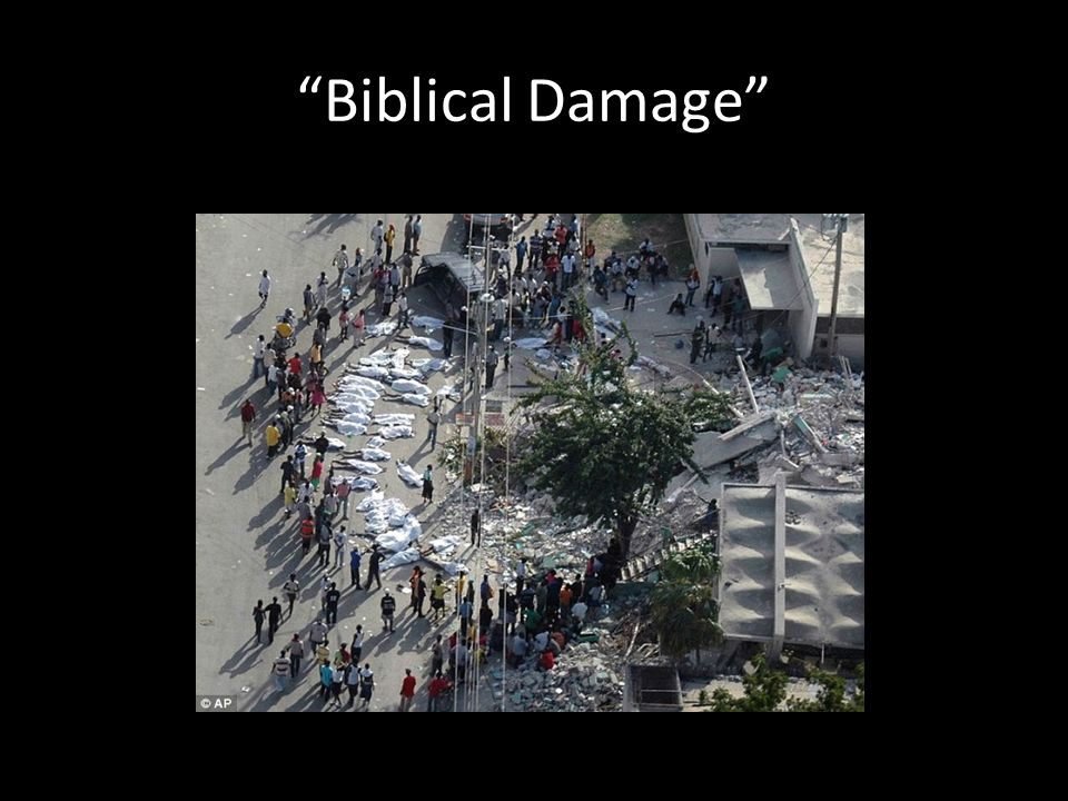 Biblical Damage
