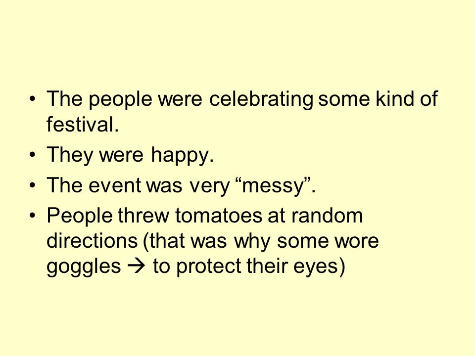 The people were celebrating some kind of festival.