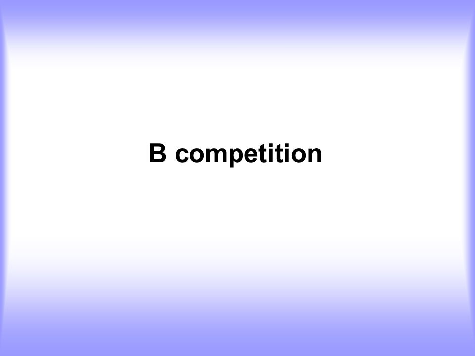 B competition