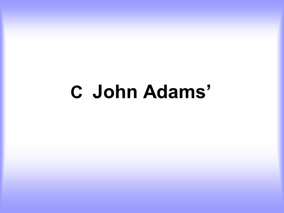 C John Adams'