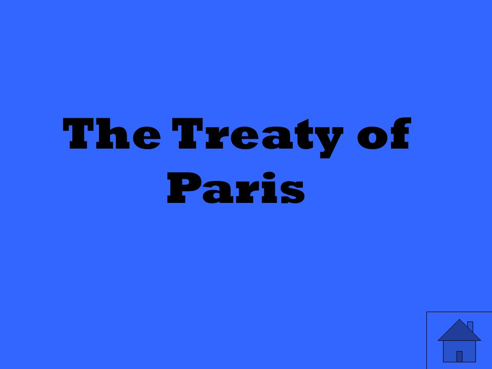 The Treaty of Paris