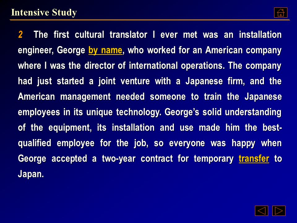 The Tale of a Cultural Translator 1 Joint ventures involving Western and Japanese companies often run into conflicts — a multitude of little things that escalate into big emotional battles in which all the parties keep exclaiming: What's wrong with them!.