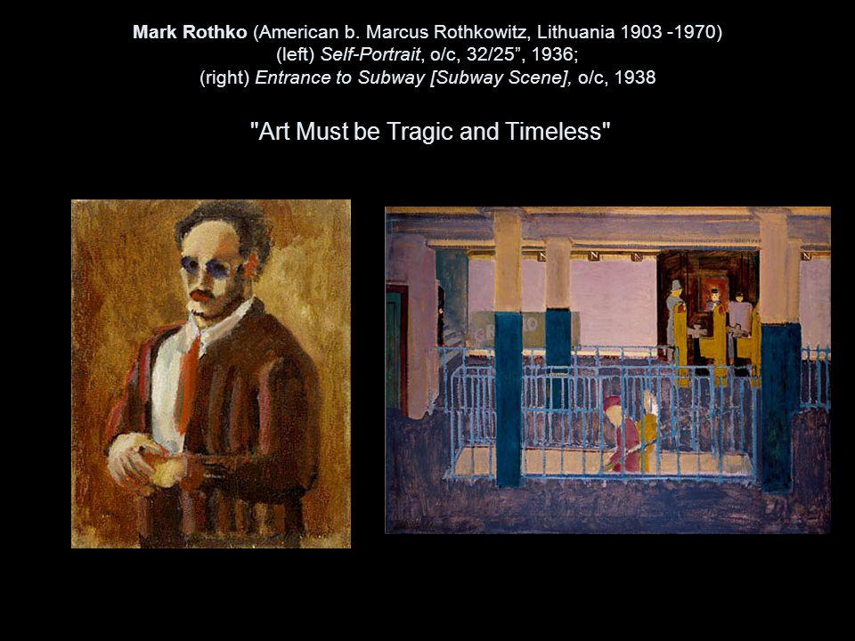 Mark Rothko (American b.