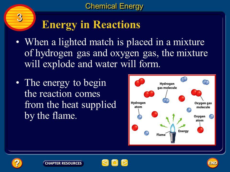 Energy in Reactions To break bonds, energy must be added.