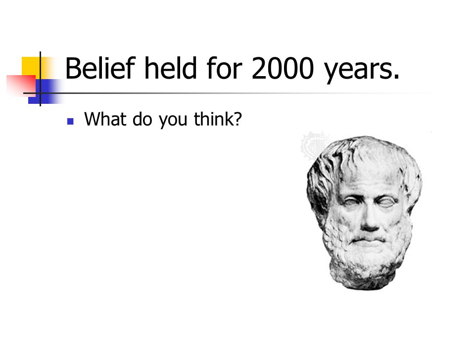 Belief held for 2000 years. What do you think?