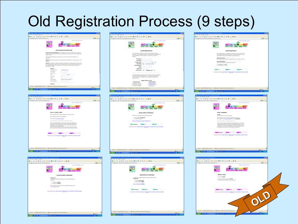 Old Registration Process (9 steps) OLD