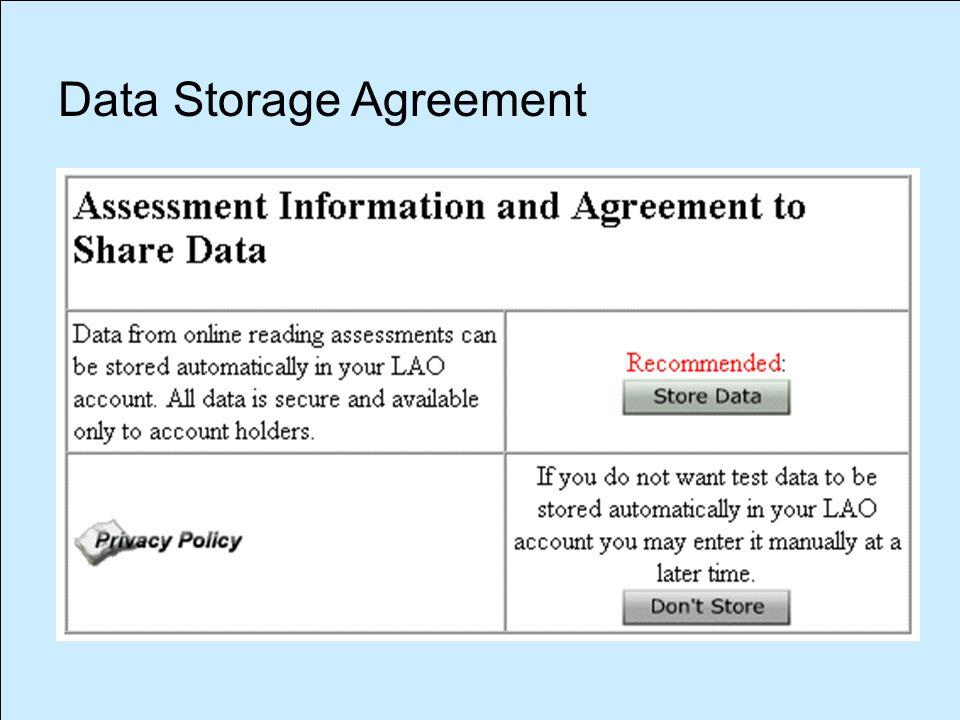 Data Storage Agreement