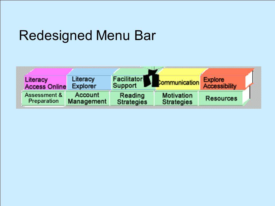 Redesigned Menu Bar
