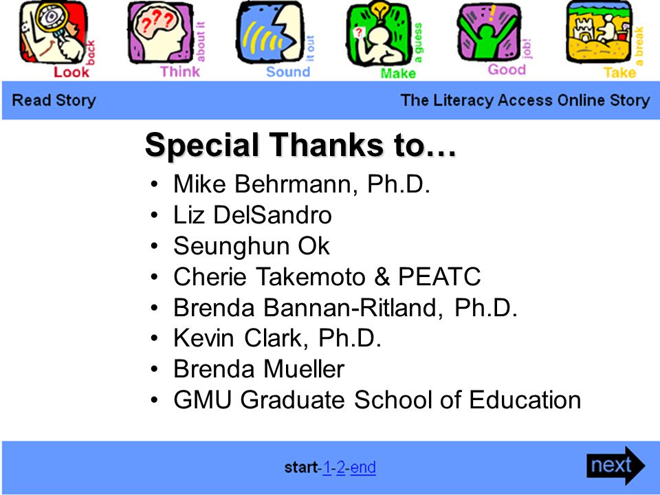 Special Thanks to… Mike Behrmann, Ph.D.