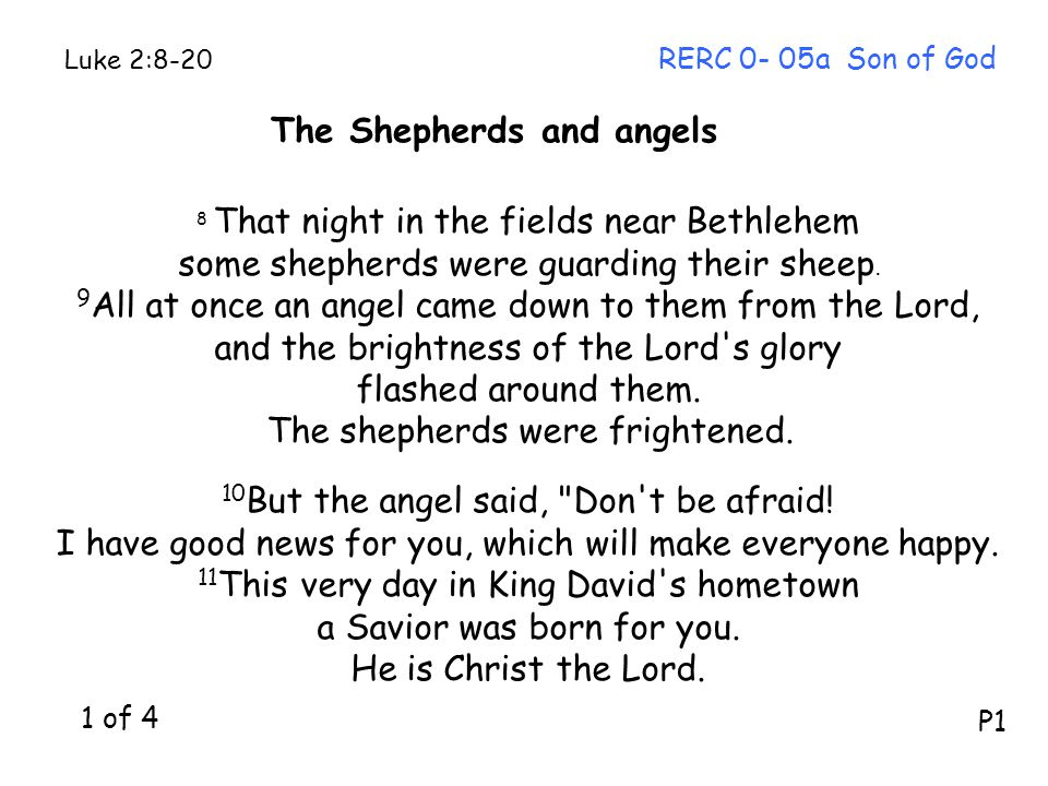 8 That night in the fields near Bethlehem some shepherds were guarding their sheep.