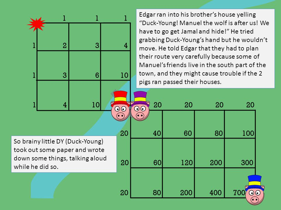 Edgar ran into his brother's house yelling Duck-Young.