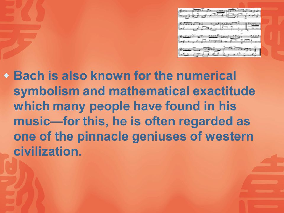 Bach's main achievement lies in his synthesis and advanced development of the primary contrapuntal idiom of the late Baroque, and in the basic tuneful