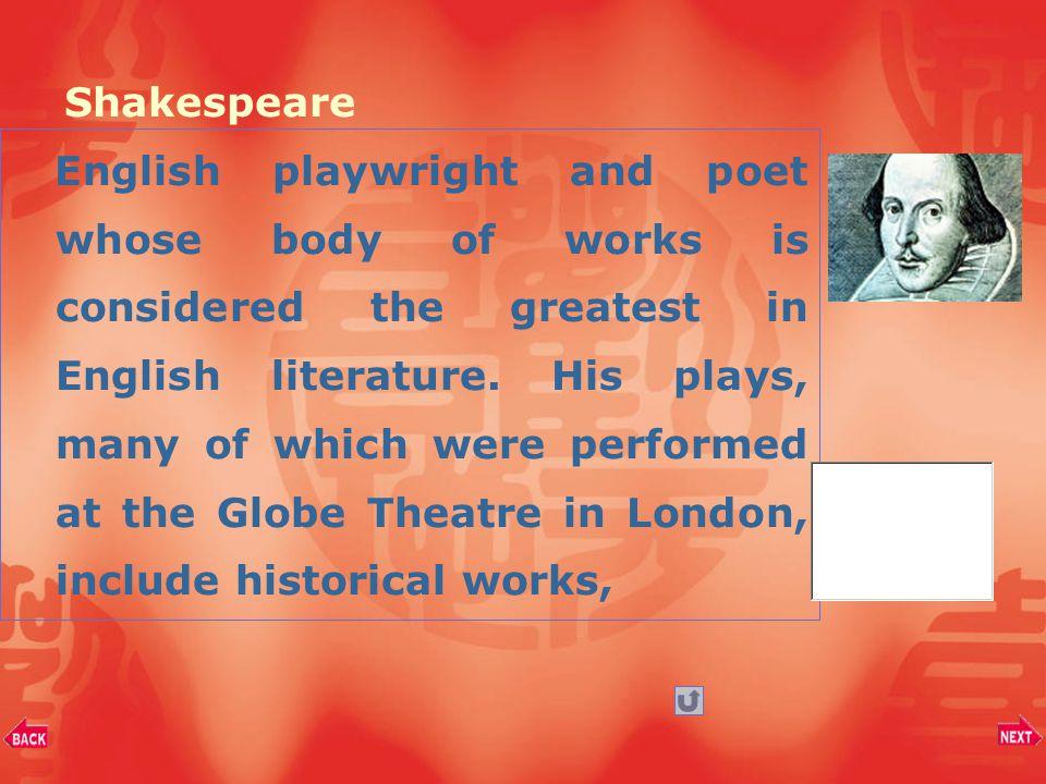 Part II.Background Information William Shakespeare