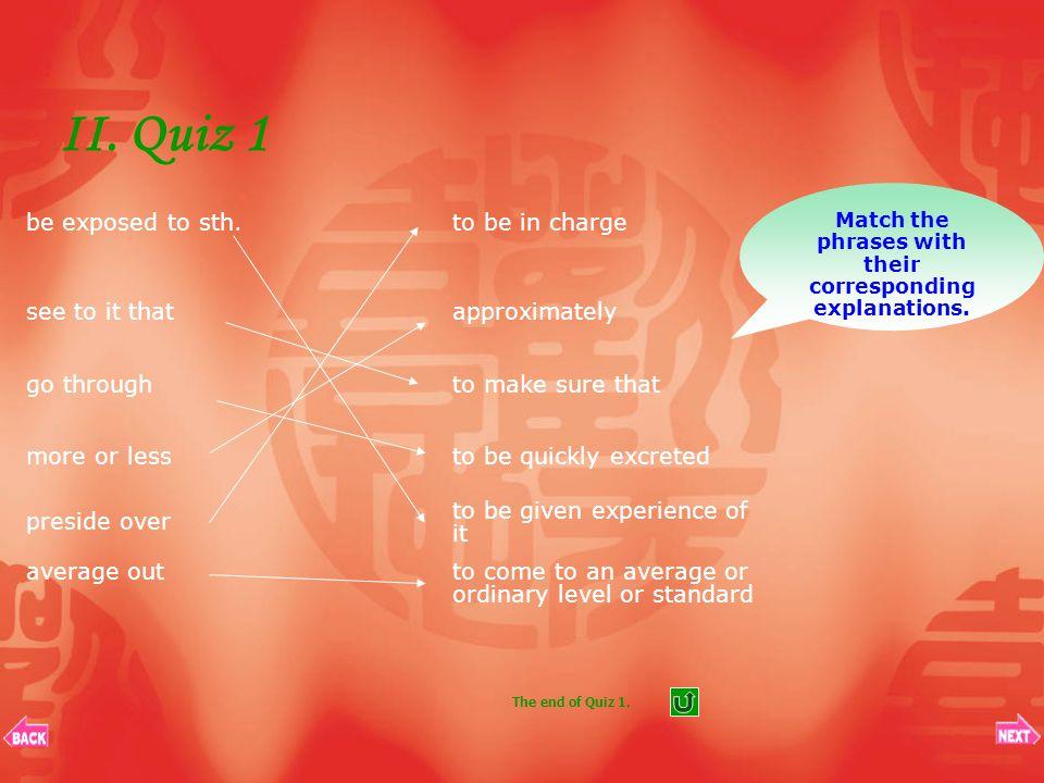II. Quiz List 1. Quiz 1Quiz 1 2. Quiz 2Quiz 2 3. Quiz 3Quiz 3