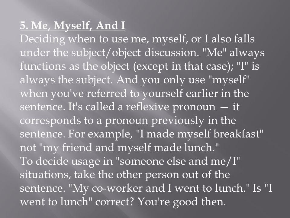 6. Lie vs.