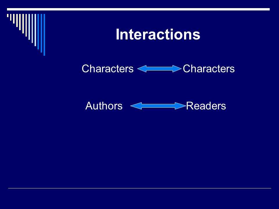 Interactions Characters Authors Readers