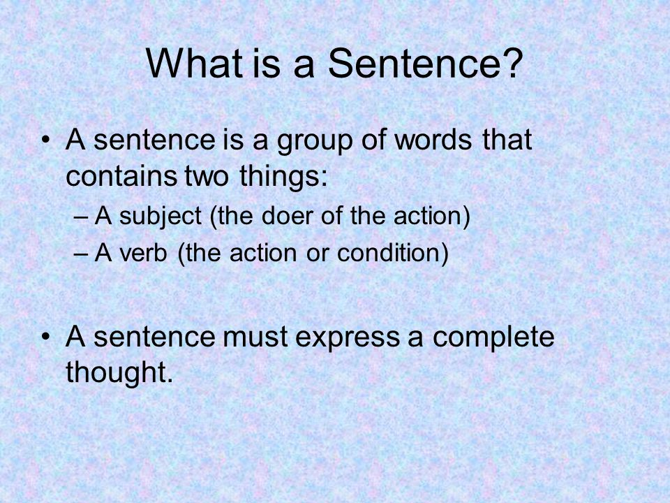 What is a Sentence.This is a complete sentence. The elephant played.