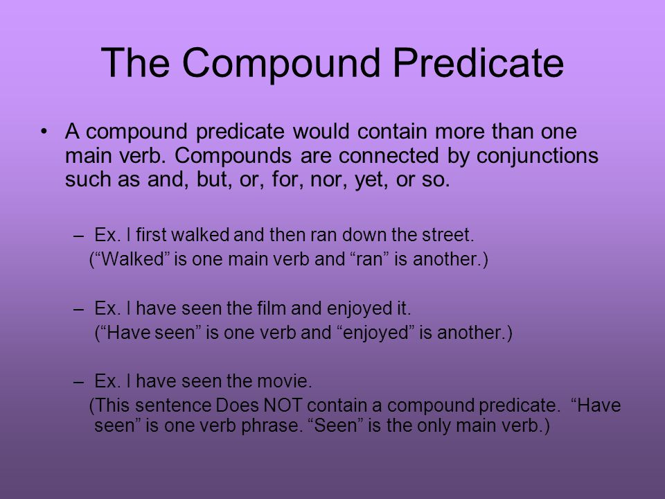 This completes the review of subjects and predicates.