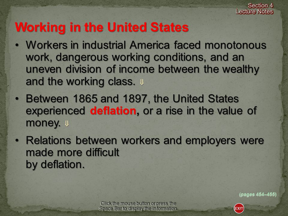 By the late 1870s, the first nationwide industrial union called the Knights of Labor was formed.