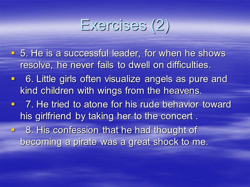 Exercises (1)  Translation  1.