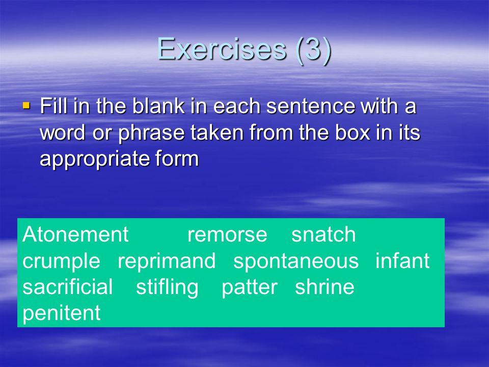 Exercises (2)  5.