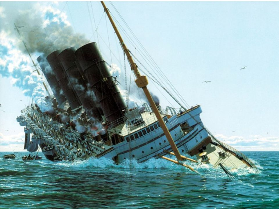 The Sinking of the Lusitania  On May 7, 1915, a German U-boat off the southern coast of Ireland fired a torpedo without warning on the Lusitania, which touched off an internal explosion and sent the ship beneath the waves in less than 20 minutes.