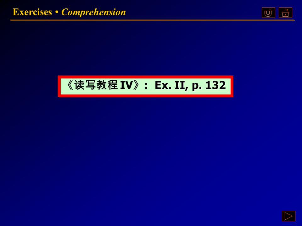 Unit 5 Exercises Ex.II Comprehension Ex. II Comprehension Ex.