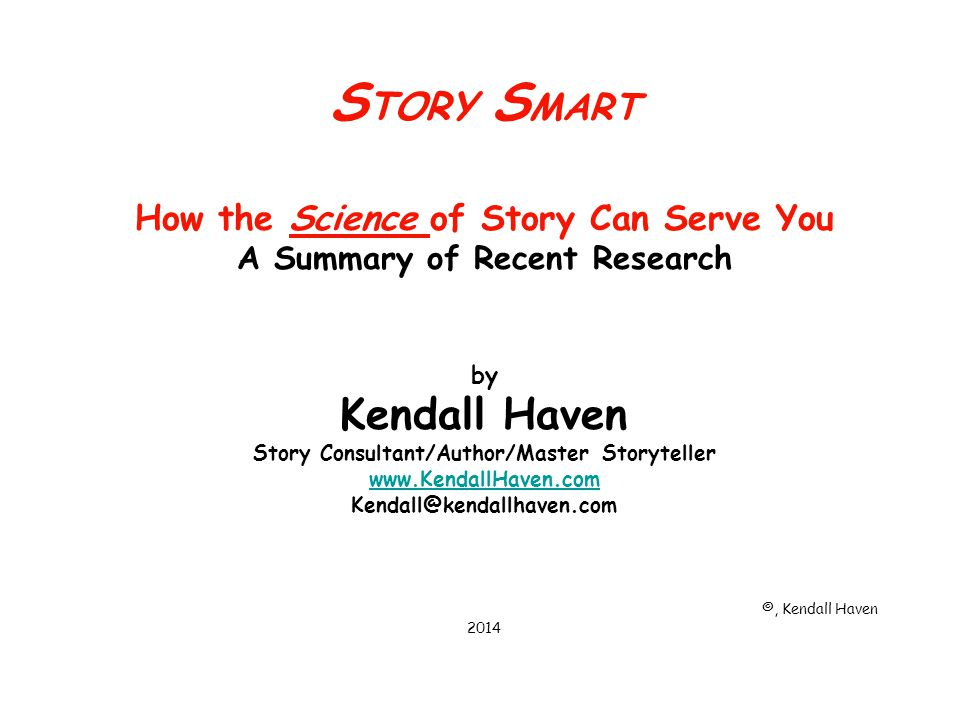 The Research: What your mind needs: The Eight Essential Elements Context & Relevance A way to place myself in this story What your mind does: Infer, assume, create, embellish, change Use prior knowledge Make sense, relevance, & context